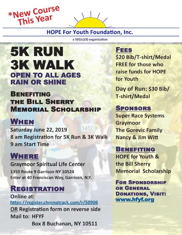 2019 5K Run 3K Walk Flyer Cover