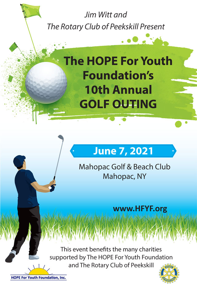 HOPE for Youth Foundation's Golf Outing brochure cover